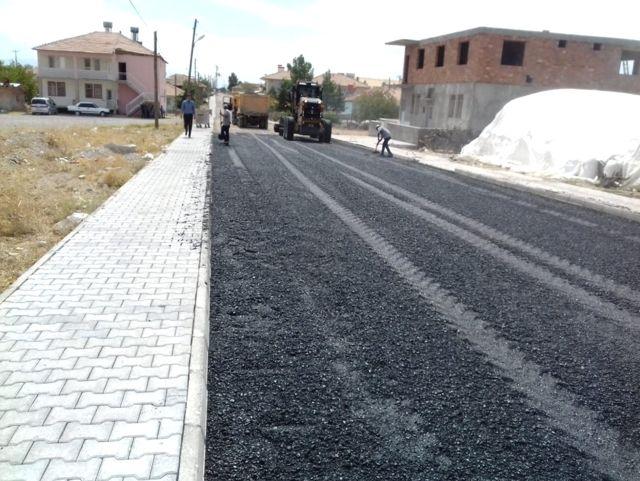 Yazıhan'da Asfalt Çalışması
