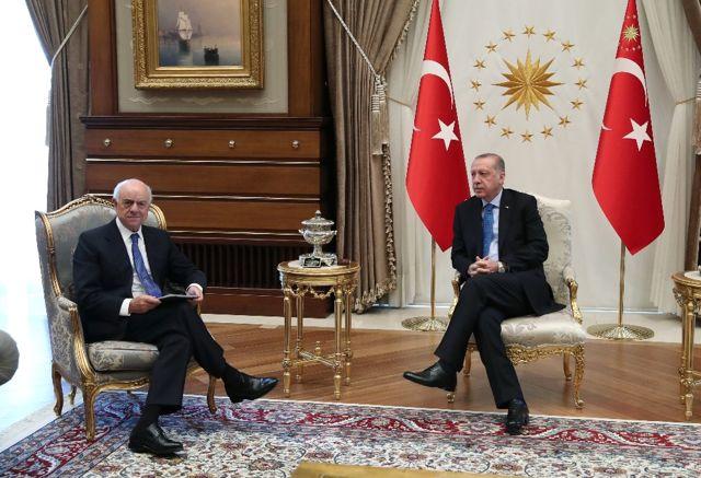 Cumhurbaşkanı Erdoğan, Bbva Yönetim Kurulu Başkanı Gonzalez ile Bir Araya Geldi