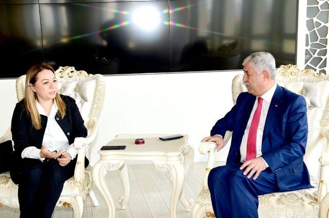 Yeni Rektör Karabulut, Başkan Polat'ı Ziyaret Etti