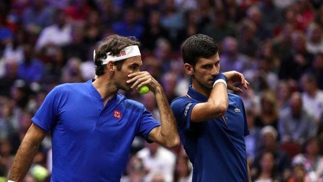 Roger Federer ve Novak Djokovic Çift Olarak Katıldıkları İlk Maçı Kaybetti