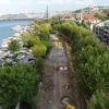 Eminönü-Alibeyköy Tramvay Hattı İnşaatında Son Durum Havadan Görüntülendi