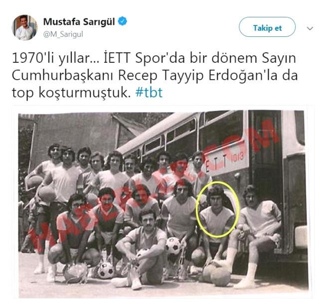Mustafa Sarıgül, Cumhurbaşkanı Erdoğan'la aynı takımda oynamış!