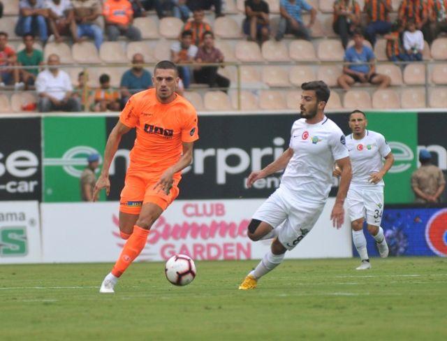 Spor Toto Süper Lig: Aytemiz Alanyaspor: 1 - Akhisarspor: 0 (İlk Yarı)