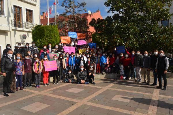 Şile'de Lösemili Çocuklar Haftası Nedeniyle Farkındalık Yürüyüşü