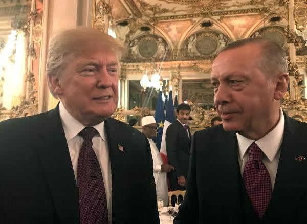 Cumhurbaşkanı Erdoğan, Fransa'da Liderler Onuruna Verilen Yemekte Trump ile Görüştü / Fotoğraflar