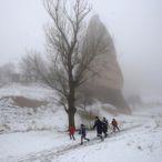 Kapadokya'da Sis ve Kar Güzelliği