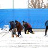 Büyükşehir Belediye Erzurumspor Kar Yağışı Altında Çalıştı