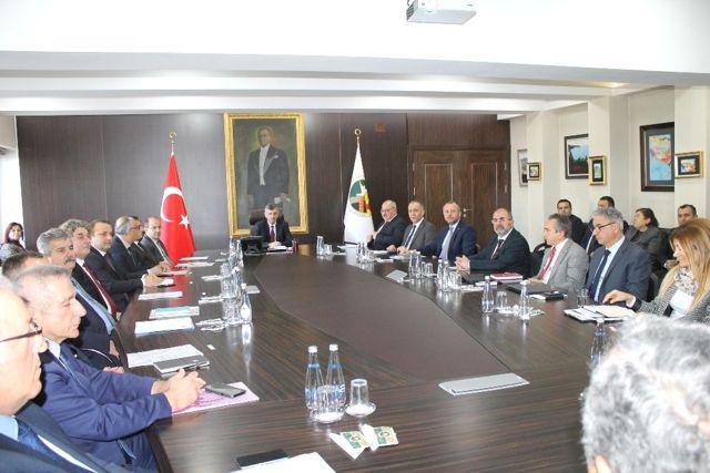 İl Ekonomi Toplantısı Vali Bektaş Başkanlığında Yapıldı