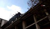 Can Güvenliğini Hiçe Sayan İnşaat İşçileri Kamerada