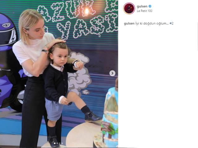 Gülşen ve Ozan Çolakoğlu oğulları Azur Benan'ın yaş gününü kutladı