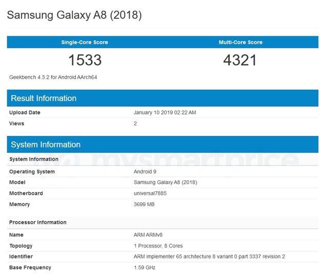 Samsung Galaxy A8 (2018) Nisan Ayında Android Pie Güncellemesi Alıyor