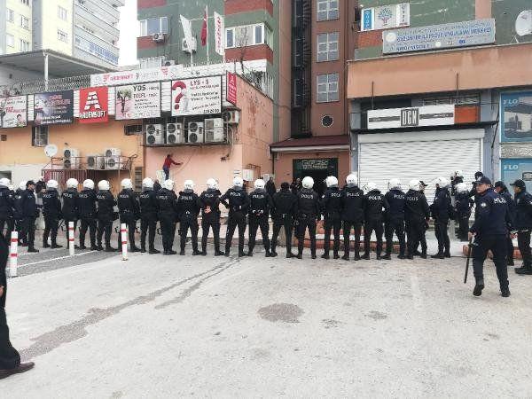 Gaziantep'te Hdp'lilerin Yürüyüşüne Polis İzin Vermedi