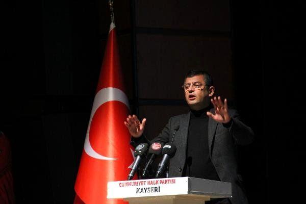 CHP'li Özel, Kayseri'de Aday Tanıtım Toplantısına Katıldı