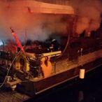 Muğla'da Tekne Yangını