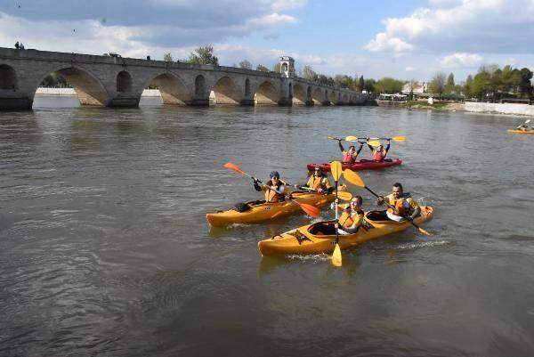 Meriç Nehri'nde 'Kano Festivali'