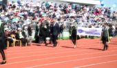 Tekirdağ Diplomasını 1 Yaşındaki Kızıyla Aldı