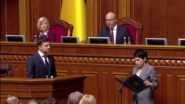 Ukrayna'da Zelenskiy Görevine Başladı... Fuat Oktay da Törene Katıldı