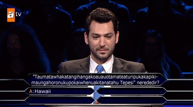 kim milyoner olmak ister de taumata tepesi sorusu 12087086 6436 m - Kim Milyoner Olmak İster'de Taumata Tepesi Sorusu Murat Yıldırım'ı Terletti