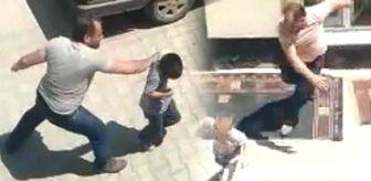Kütahya'da bir baba 2 oğlunu sokak ortasında tekme tokat dövdü