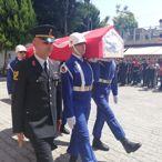 Mersin'deki kazada ölen asker için tören