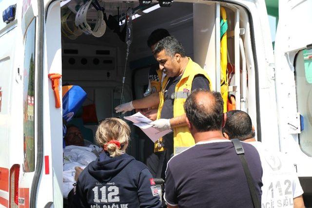 Tüp patlamasında yaralandı, hava ambulansı ile sevk edildi