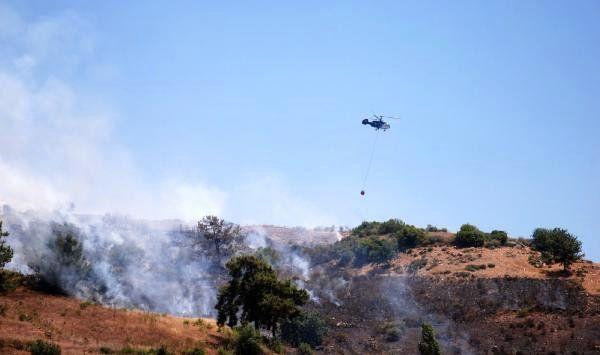 Gazipaşa'da makilik ve tarım arazisi yandı
