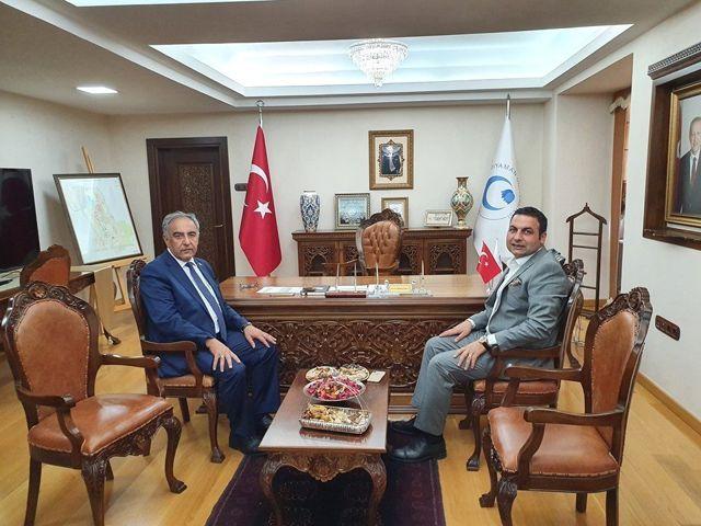 Başkan Yıldırım, Rektör Turgut ile bir araya geldi