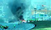 Beşiktaş'ta rezidans inşaatında korkutan yangın