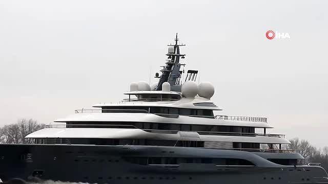 Dünyanın en zengin iş adamlarından Amazon'un sahibi Jeff Bezos'un yatı 'Flying Fox' Muğla...
