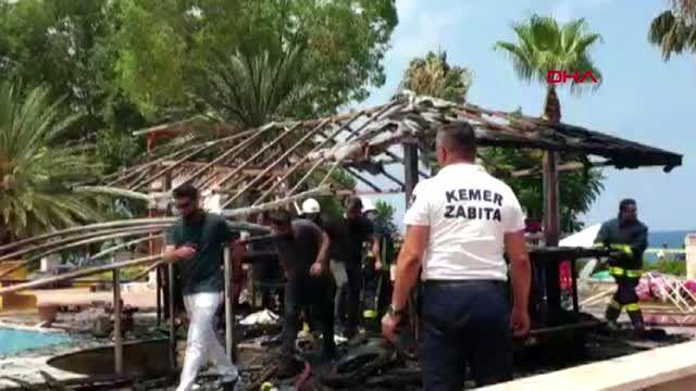 ANTALYA Kemer'de metruk binada çıkan yangında bir kişi yanarak öldü