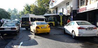 İstanbul'da feci kaza! Minibüse çarpan otobüs, iş yerine girdi: 1 ölü, 3 yaralı