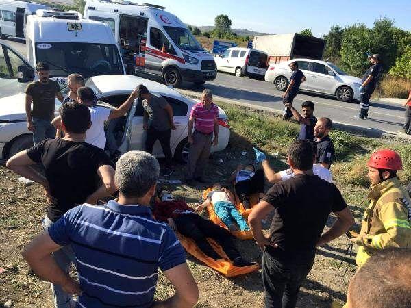 Arnavutköy'de kaza sonrası can pazarı (1)