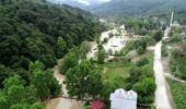 Su baskını ve toprak kayması - drone çekimleri