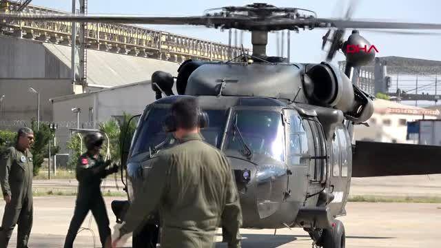 ANTALYA Helikopterle kask denetimi