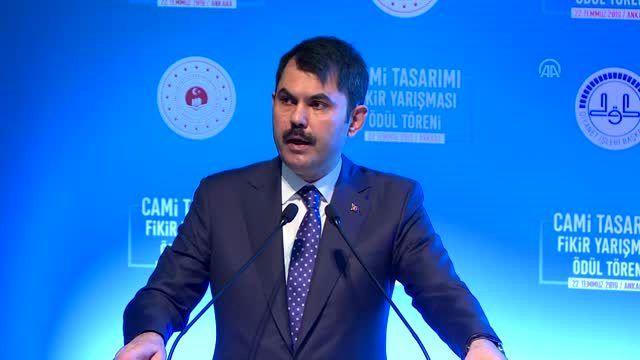 Cami Tasarımı Fikir Yarışması Ödül Töreni - Çevre ve Şehircilik Bakanı Murat Kurum (3)