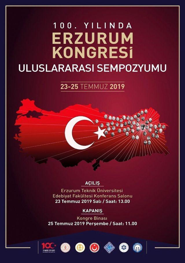 Erzurum Kongresi 100'üncü yılında uluslararası sempozyumu düzenlenecek
