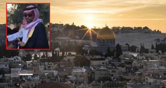 İsrail'e davet edilen Suudi gazeteci, Filistinliler tarafından Mescid-i Aksa'dan kovuldu