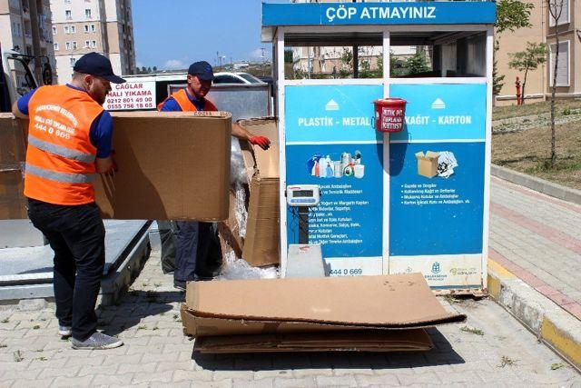 Başakşehir'de geri dönüşüm atıkları puana dönüşüyor