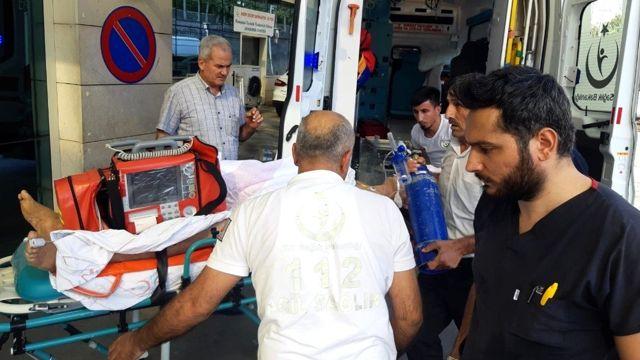 Siirt'te elektrik akımına kapılan garson ağır yaralandı