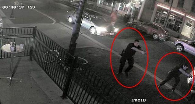 Ohio'yu kana bulayan saldırganın öldürülme anı kamerada!