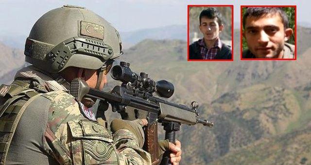Gri kategoride 300'er bin TL ödülle aranan iki terörist öldürüldü