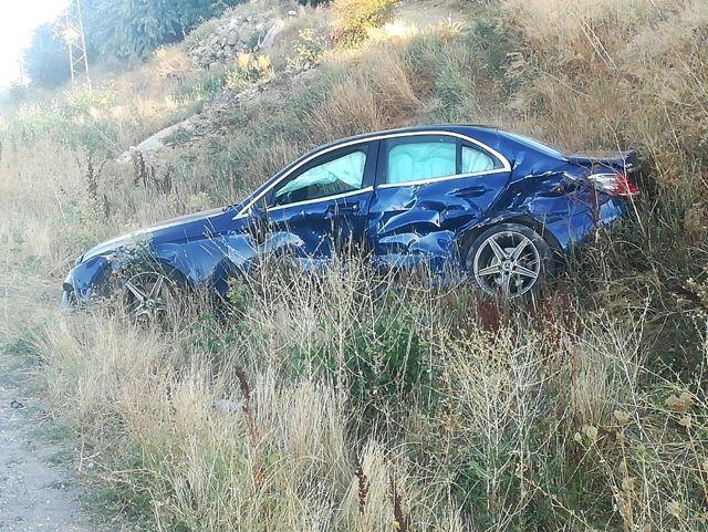Trafik kazası 2 yaralı