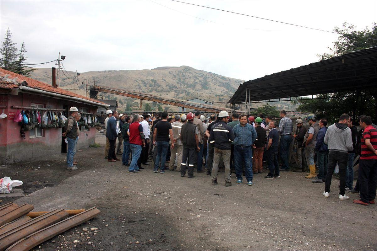 Amasya'da maden işçilerinden basın açıklaması