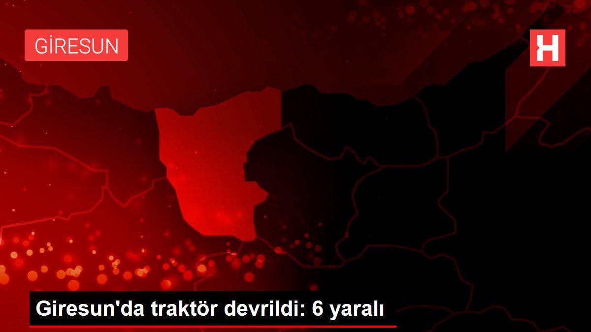 Giresun'da traktör devrildi: 6 yaralı