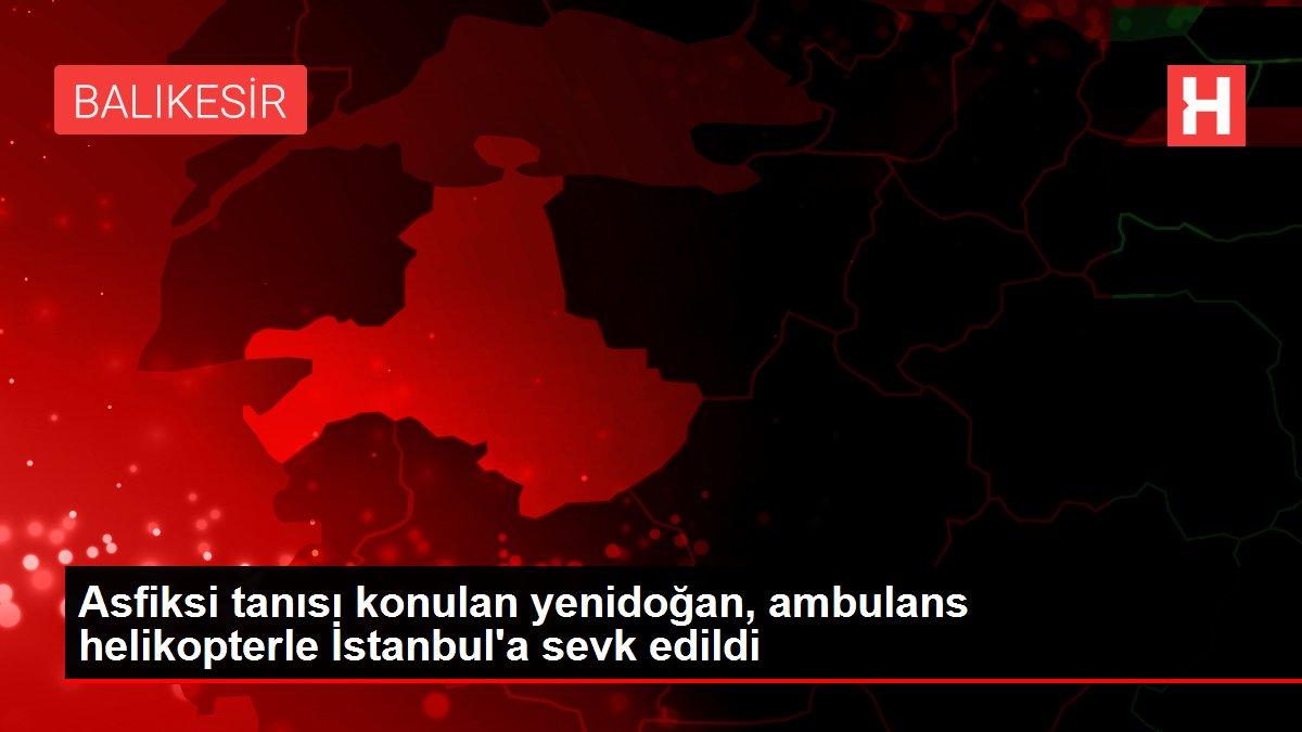 Asfiksi tanısı konulan yenidoğan, ambulans helikopterle İstanbul'a sevk edildi