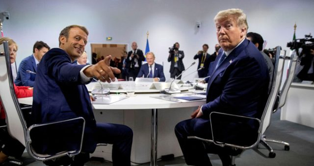 G 7 Zirvesine Macron Un Esinin Trump I Opmesi Damga Vurdu Haber