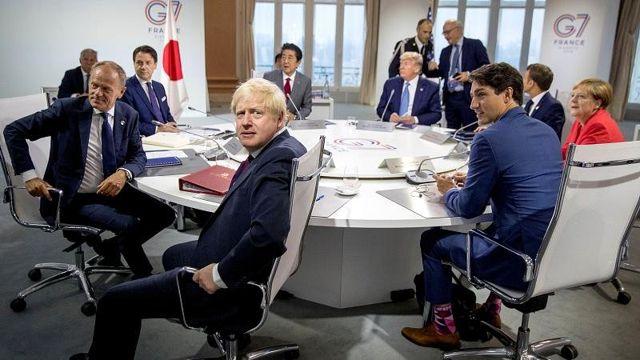 G7 Zirvesi'nde ikinci gün: Trump İngiltere Başbakanı Johnson ile görüştü