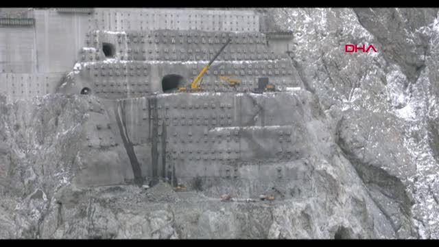 Artvin-yusufeli barajı görüntüleri