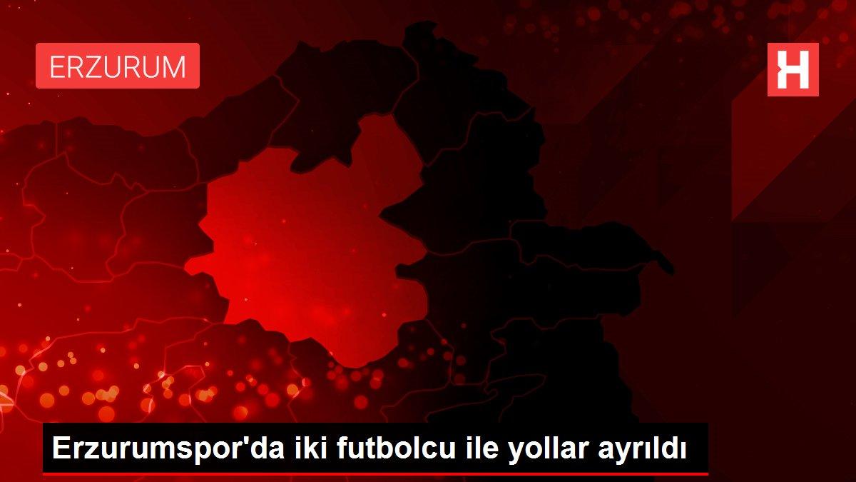Erzurumspor'da iki futbolcu ile yollar ayrıldı