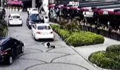 Şişli'de genç kadının ölümden döndüğü kaza kamerada